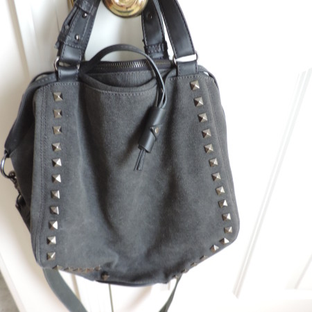 Gray Cloth Denim Bag