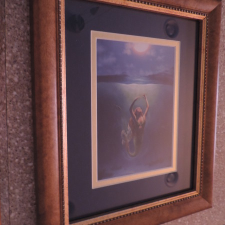 Faux Leather Framed Mermaid Print