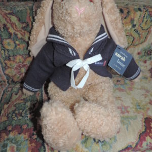 18 1/2″ Sarah Bunny Limited TY With Sweater On NWT