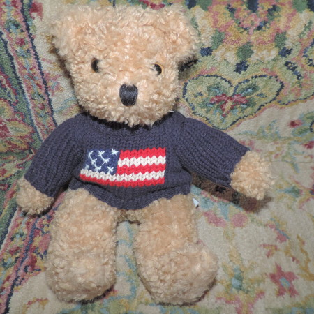 11″ Limited Bear W/ USA Sweater On