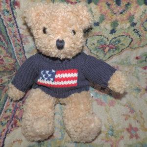 11″ Limited Bear W/ USA Sweater On