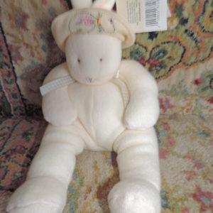 12″ Cream Bunny Hallmark NWT