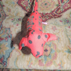 PINK  Red Polka Dot Dog NEW