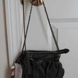 Junior Drake Gray Leather Bag NWT