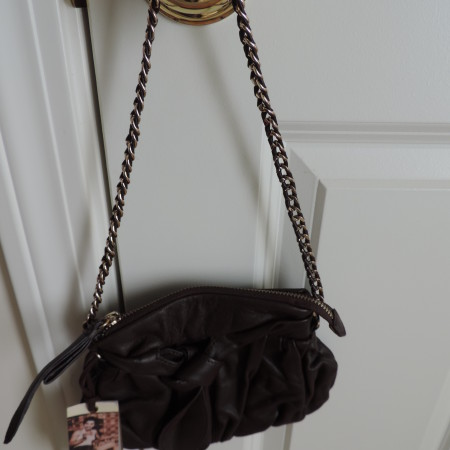 Junior Drake Chocolate Brown Leather Bag NWT