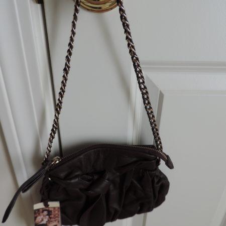 Junior Drake Chocolate Brown Leather Bag NWT