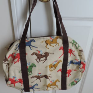 Horse Print Fabric Bag NEW