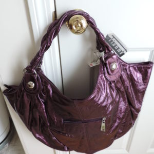 Purple Metallic Bag XL NWT