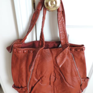 Rust Handbag With Studs NEW