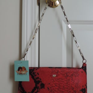Fiorucci Black/Red Faux Croc Bag NEW