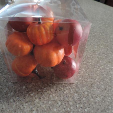 Faux Pumpkins/apples 17 Pieces