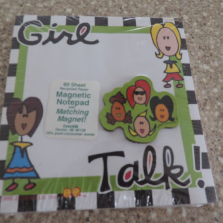 Girl Talk Recycled Notepad NEW