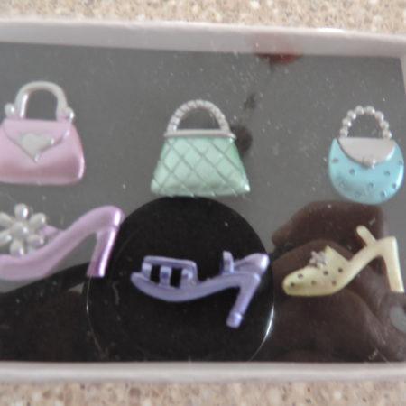 Multi-Color Handbag/Shoes Push Pins NEW