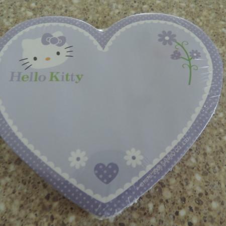 Hello Kitty Heart Purple Sticky Memo Pad NEW