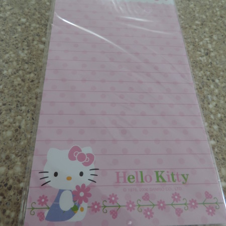 Hello Kitty Magnetic Memo Pad NEW