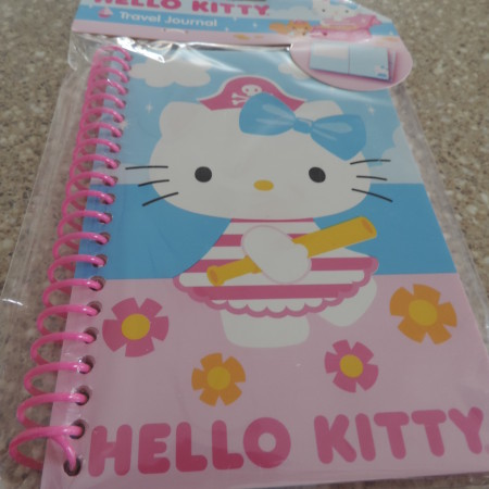Hello Kitty Travel Journal Pink With Flowers NEW