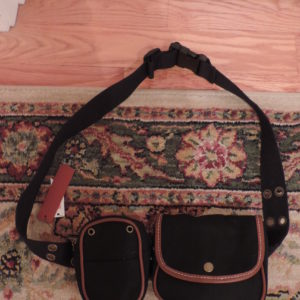 Black Canvas Fanny Pack NEW