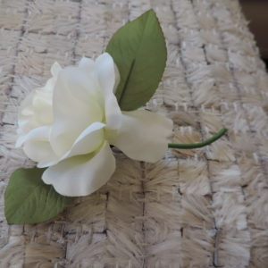 White Flower Pin NEW