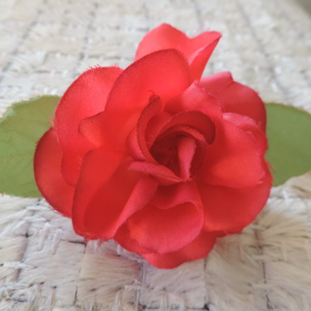 Rose Color Flower Pin