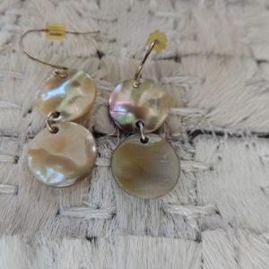 Pierced Earrings Mother Of Pearl