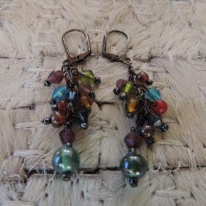 Pierced Earrings Multi Stones/beads Colors > Oranges & Creams