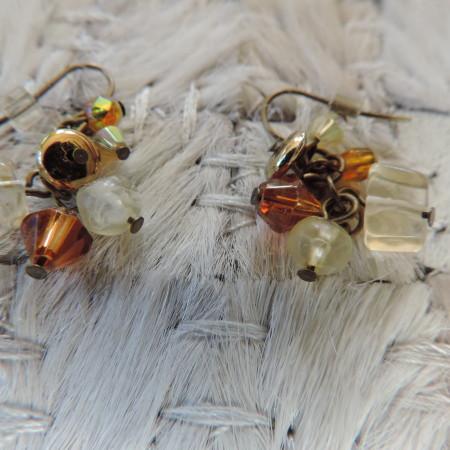 Pierced Earring Small Multi Stone & Bead