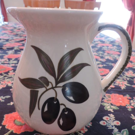 Pitcher – Small W/ Olives On It NEW