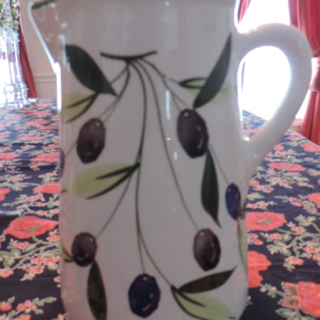 Pitcher – Large W/ Olives On It NEW
