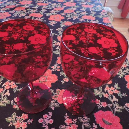 Wine Goblets – Red – Set Of 2