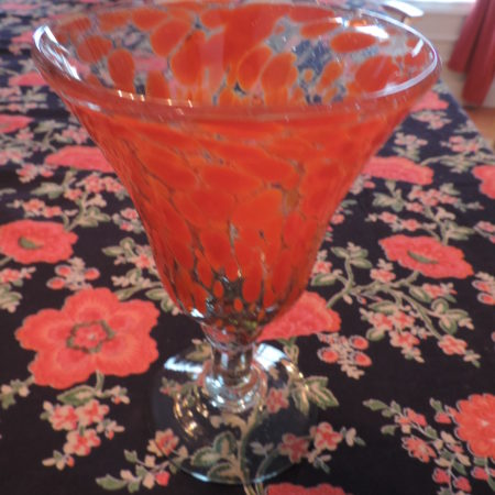 Goblet – Orange > Clear Base 1 Made Of Recycled Glass