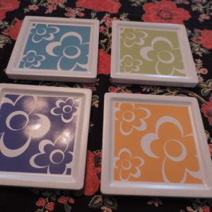 Coasters – Ceramic – Pop Flowers NEW