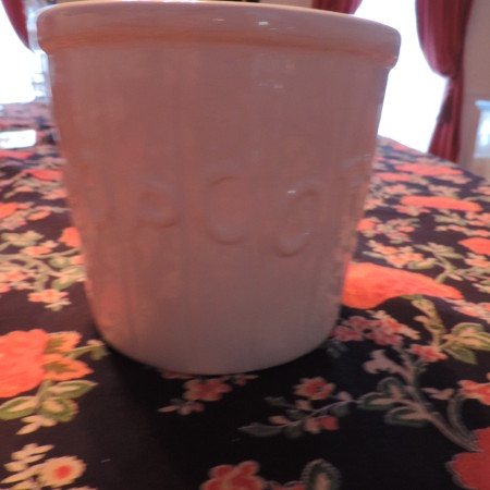 Popcorn Bowl White W/words POPCORN On It