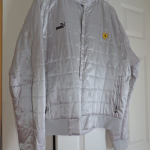 Ferrari Jacket By Puma — Silver Size XXL Zip Up