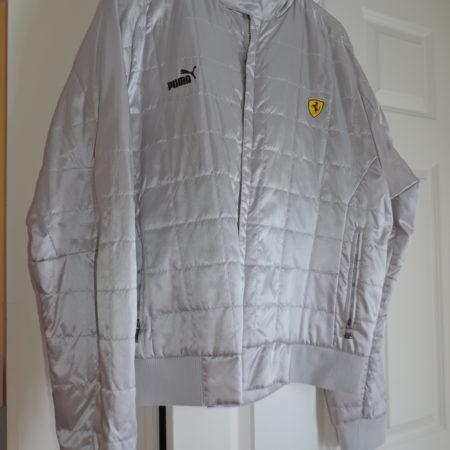 Ferrari Jacket By Puma — Silver Size XXL Zip Up