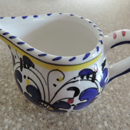 Pitcher – Small Yellows/blue Made In Italy NEW