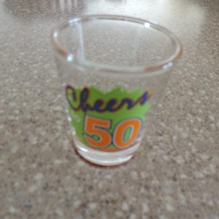 Shot Glass – Cheers 50