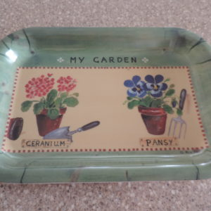 "Melamine Tray ""My Garden"" Made In Italy 9″ X 6″"