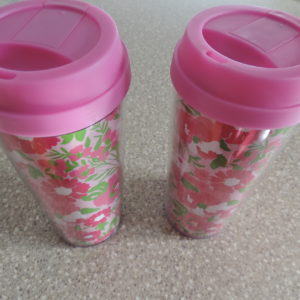Lilly Pulitzer (2) 16 Oz. Ea.  Cold Cups NEW
