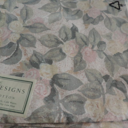 Cloth Napkins – Set Of 4 Rose Design – NEW