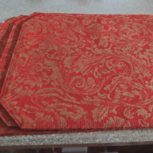 Placemats – Set Of 4 – Red & Gold > NEW