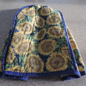 Sunflower Cloth Appliance Cover 14″ Tall