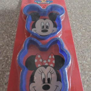Cookie Cutters – Set Of 2 In The Pkg. Micky & Minnie Mouse NEW