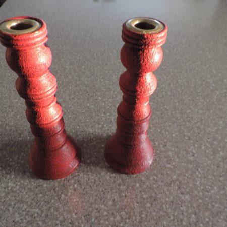 Candle Sticks 1 Pr. Red 8″ High
