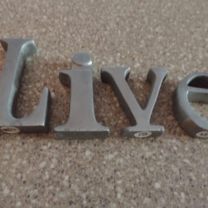 LIVE Letters L 3 1/2″ Other Letters 2″ – 2 1/2″