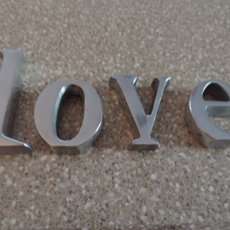 "LOVE Letters ""L"" 3 1/2″ Other Letters 2″ – 2 1/2″"