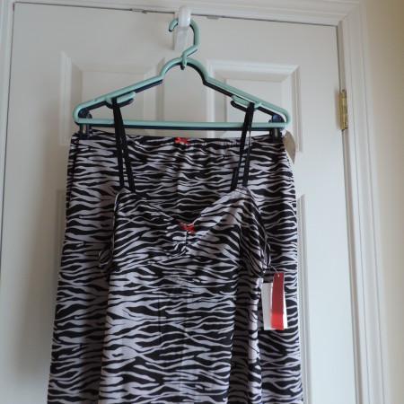 Josie Natori Zebra Print Camisole And Skirt > Size L NEW