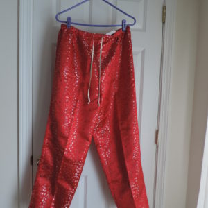 Chinoiserie Red Floral Pants W/ Gold Trim > Size 1X NEW