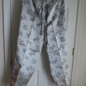 Chinoiserie Gray W/black Dragons Pants > Size 1X NEW