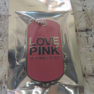 Victoria's Secret Love Pink Dog Tag NEW