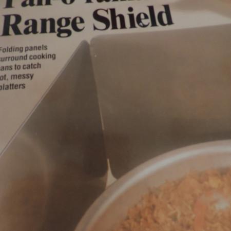 Pan-O-Rama Range Shield – Folding Panels Surround Cooking Surface NEW